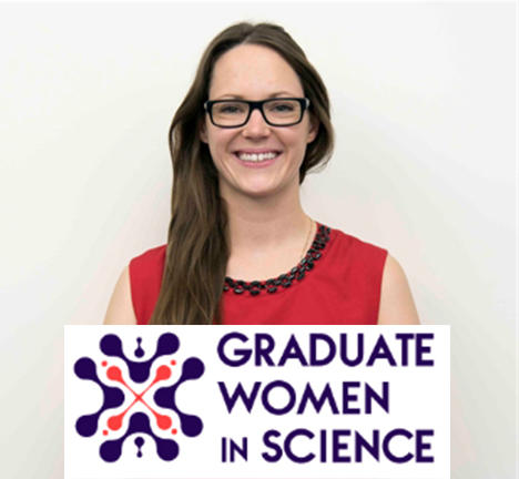 Picture of Allison Didychuk with Graduate Women in Science emblem