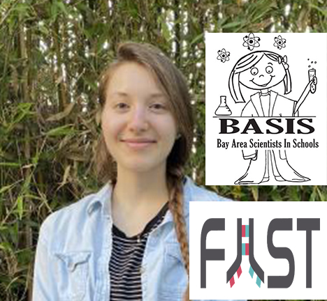 Picture of Leah Gulyas with BASIS and FAST emblems